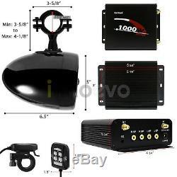 1000w Bluetooth Étanche Atv Utv Rzr Polaris Stéréo 4 Haut-parleur Audio Système Amp