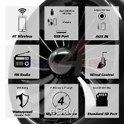 1000w Bluetooth Stéréo Motorcycle 4 Haut-parleurs Audio Mp3 Système Aux Radio Fm Usb