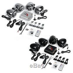 1000w Moto Stéréo 4 Haut-parleurs Audio Mp3 De Musique Système Radio Fm Aux