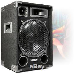 1200 Watt Max Max12 12 Haut-parleurs Audio Stéréo Salut-fi Dj Party Uk Disponibilité