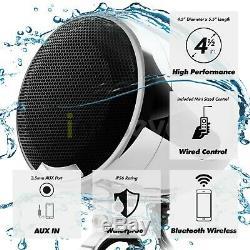 1200w Amp Moto Bluetooth 4 Haut-parleur Audio Système Stéréo Vtt Polaris Rzr Utv