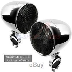 1200w Amplificateur Bluetooth Haut-parleurs Stéréo Moto Étanche Audio Système Mp3