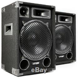 1200w Max Max12 12 Pouces Haut-parleurs Audio Stéréo Salut-fi Dj Disco Party