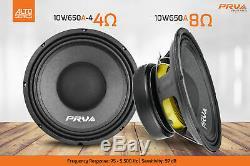 2x Audio 10w650a Gamme Prv MID Alto Voiture Stéréo 10 Haut-parleur 8 Ohms 10a Pro 1300w