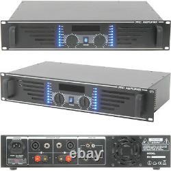 480w Stereo Power Amplificateur Bar/disco Hi-fi Speaker Sound System 19 Rack 2u