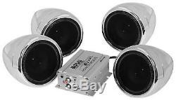 4 Haut-parleur Stéréo Moto Système Audio Haut-parleur Bluetooth Amplificateur Etanche