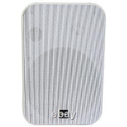 4x 6.5 200w Haut-parleurs Stéréo Résistant À L'humidité 8ohm Mur Blanc Monté