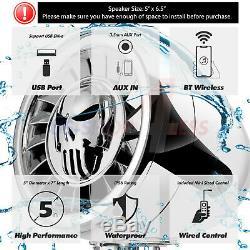 600w Bluetooth Haut-parleurs Stéréo Étanche Audio Système Amp Pour Harley Ape Hanger