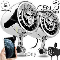 600w Bluetooth Haut-parleurs Stéréo Moto Étanche Amplificateur Audio Mp3 Système Harley