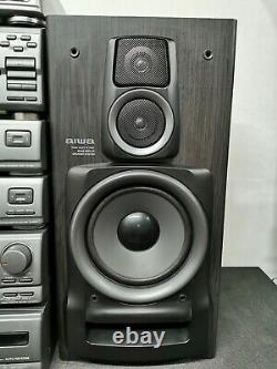 Aiwa Mx-z9500 Stéréo Stack System Hifi Sépare Les Haut-parleurs Sonores