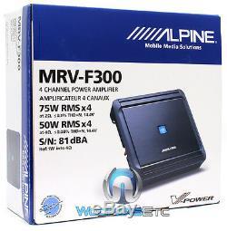 Alpine Mrv-f300 Amp 4channel 600 W Max Voiture Haut-parleurs Composants Tweeters Amplificateur
