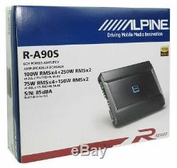 Alpine R-a90s Amp 6 Canaux Max Hauts-parleurs Composants Tweeters Amplificateur