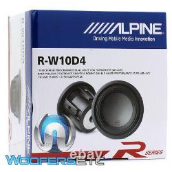 Alpine R-w10d4 10 2250w Woofer Dual 4-ohm Renforcé Subwoofer Basse Haut-parleur Nouveau