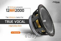 Audio 12mr2000 Gamme Prv MID Car Stereo 12 Président 8 Ohms 12mr Pro 2000 Watts