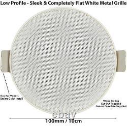 Bluetooth Ceiling Music Kit -mini Amp & 4 Haut-parleurs Profil Bas-stereo Hifi Sound