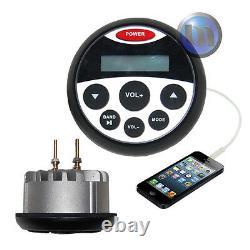 Bluetooth Marine Boat Audio Stéréo Mp3 Kit / Usb / Fm / Aux / Radio + 4 Haut-parleurs + Ant