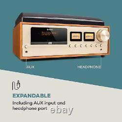 Bluetooth Stéréo Système Vinyle Lecteur CD Salut Fi Audio Accueil Champagne Usb