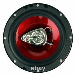 Boss 6.5 Inch 300 Watt 3-way Car Coaxial Audio Stereo Speakers Ch6530 (6 Pack)