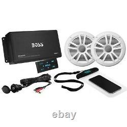 Boss Audio Boss-ask902b. 6 Amplificateur Bluetooth Marin Stéréo Avec1 Paire Haut-parleurs