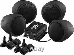 Boss Audio Mcbk470b Moto Vtt Bluetooth Amp & Haut-parleurs 1000 Watt Stereo