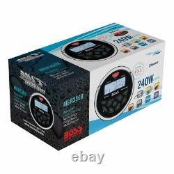Boss Audio Mgr350b Récepteur Stereo Marine Avec 4 Haut-parleurs Audio Marine
