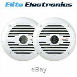 Boss Audio Mr60w 6.5 Blanc Paire 2 Voies Stéréo Marine Bateau Outdoor Speakers