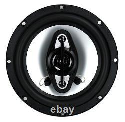 Boss Nx654 6.5 400w 4-way Car Audio Coaxial Speakers Stereo, Noir (8 Haut-parleurs)