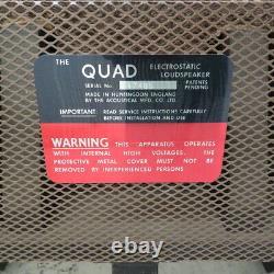 Boxed Quad Esl 57 Haut-parleurs Stéréo + Maf Se Widget One Thing Audio Serviced