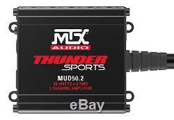 Contrôleur Bluetooth Audio + Mtx Tour Haut-parleurs + Amp 2 Canaux Pour Polaris Rzr