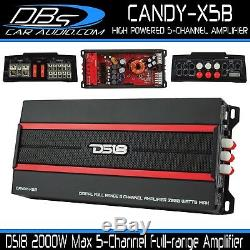 Ds18 Candy-x5b 5 Canaux Stéréo Voiture Amplificateur 2000w Max Haut-parleur Audio & Sub Amp