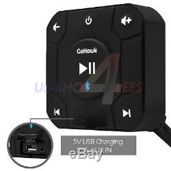 Étanche Atv Utv Rzr Polaris Bluetooth Led 4 Haut-parleurs Stéréo Système Audio Amp