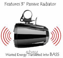 Étanche Marine Polaris Rzr Utv Haut-parleurs Audio Bluetooth Stereo System