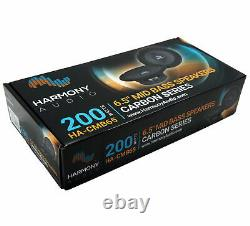 Harmony Audio Hc-cmb65 Voiture Stereo Cabron Midbass Midrange 6,5 Haut-parleurs 3 Paire