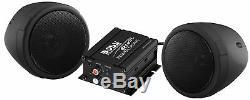 Haut-parleur Stéréo Moto Système Audio Bluetooth Amplificateur Haut-parleurs Étanches