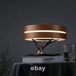 Haut-parleur Stéréo Stéréo De Lampe De Bureau De Charge Sans Fil De Led Intelligent Avec L'horloge Numérique