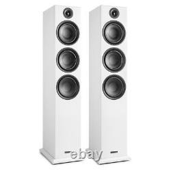 Haut-parleurs Hi-fi Shf80 Floorstanding Pour Home Stereo Sound System 3-way 6.5 Blanc