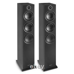 Haut-parleurs Hi-fi Shf80 Floorstanding Pour Home Stereo Sound System 3-way 6.5 Noir