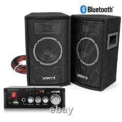 Haut-parleurs Hifi Et Amplificateur Stéréo Avec Bluetooth Usb 6 Home Audio Music System