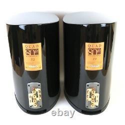 Haut-parleurs Stéréo Quad Z-2 En Brillance Noir Boîte Audio Idéale