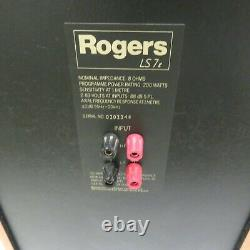 Haut-parleurs Stéréo Rogers Ls7t Encadrés/emballages Bel État Audio Idéal
