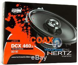 Hertz Dcx-460,3 Voiture 4 X 6 Audio 2 Voies Néodyme Tweeters Haut-parleurs Coaxiaux Nouveau