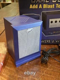 Intec Game Sound System Stéréo Haut-parleurs Av Sélecteur Nintendo Gamecube! Rare