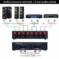 Interrupteur De Boîte D'amplificateur Audio Sélecteur De Haut-parleur 2 Voies Comparateur Stéréo Passif