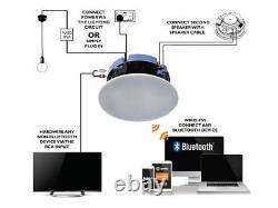 Lithe Audio 6.5 Haut-parleur Plafond Bluetooth Amazon Alexa Compatibilité