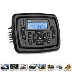 Marine Audio System Unit Boat Stereo Radio & 4'' Waterproof Haut-parleurs 2pair & Usb