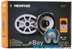 Memphis Mxa69 6x9 60w Rms Aluminium Tweeters Coaxial Marine Bateau Haut-parleurs Nouveaux