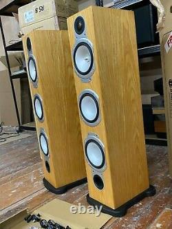 Moniteur Audio Argent Rs8 Sol Debout Haut-parleurs Stéréo