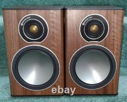 Moniteur Audio Bronze 1 Main / Stereo Bookshelf Haut-parleurs En Finition Noyer