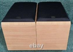 Moniteur Audio Bronze B1stereo Bookshelf Bi-wireable Speakers Finition Chêne Léger