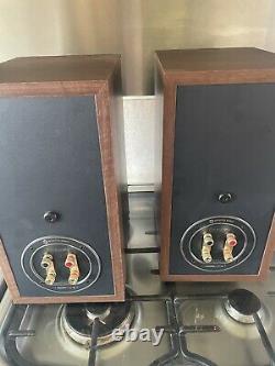 Moniteur Audio Bronze Bx2 Stereo Hifi Haut-parleurs Walnut Main Bookshelf/stand